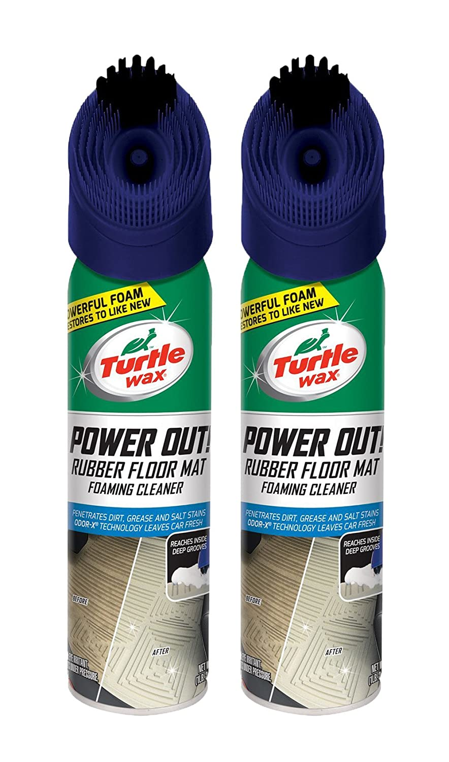 Turtle Wax Power Out Rubber Floor Mat Heavy Duty Cleaner (2 Pack)