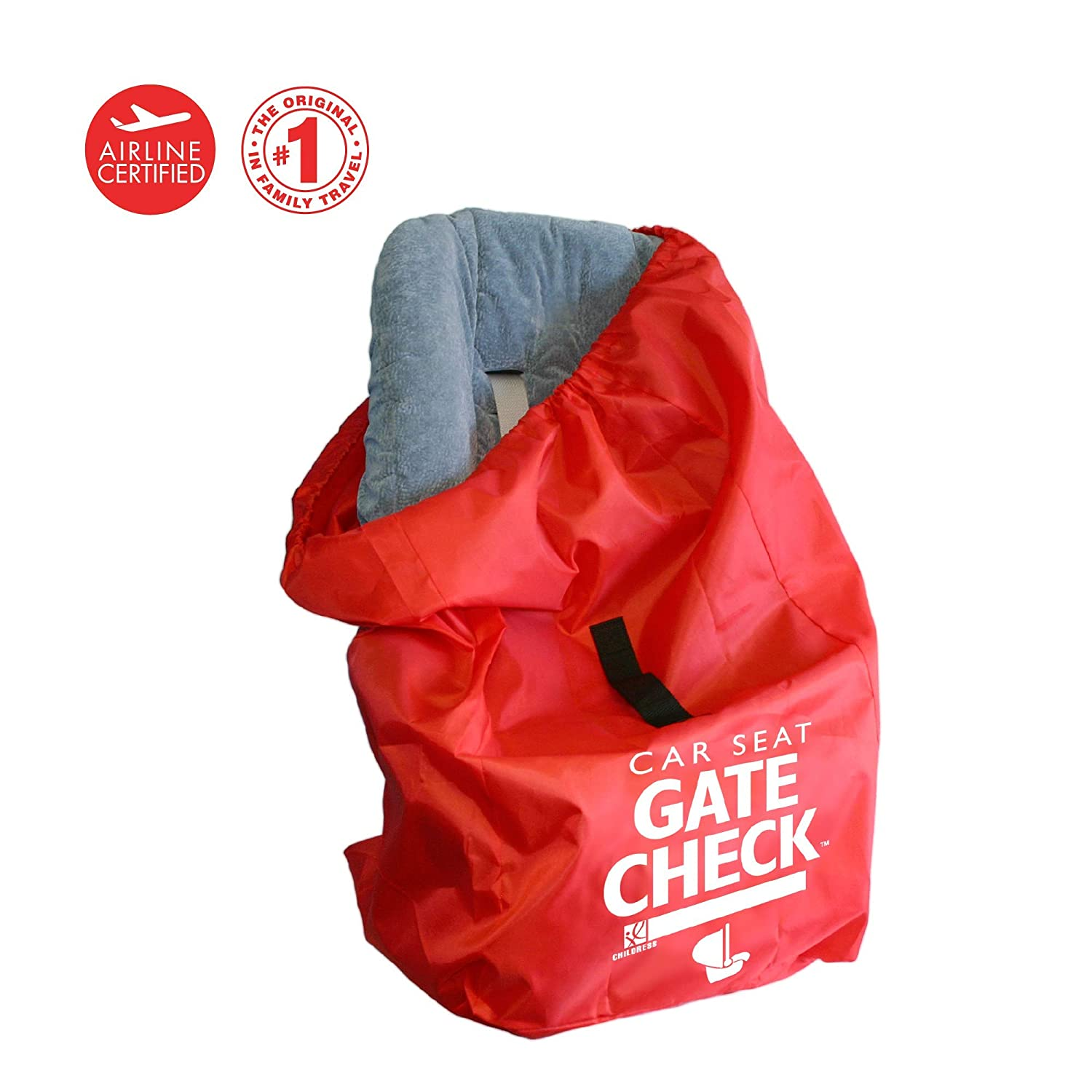 J. L. Childress Gate Check Air Travel Bag for Car Seats, Red 2110