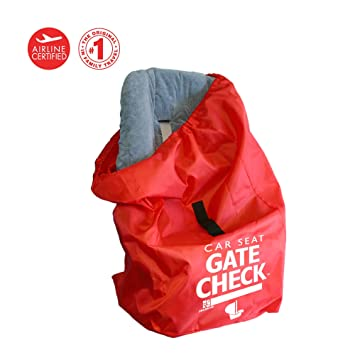 J L Childress Gate Check Air Travel Bag For Car Seats Red
