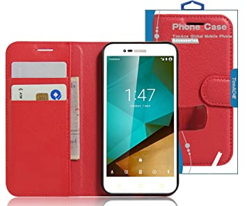 TopAce® Vodafone turbo 7 Funda, Case Funda PU Cuero Resistente con Soporte Plegable,