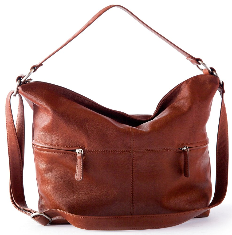 Osgoode Marley Cashmere Alexis Leather Hobo Brandy