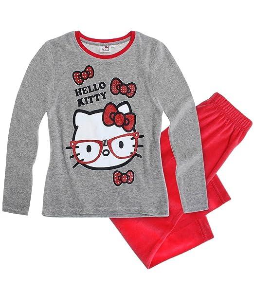 Hello Kitty Chicas Pijama (Velour) - Rojo - 104