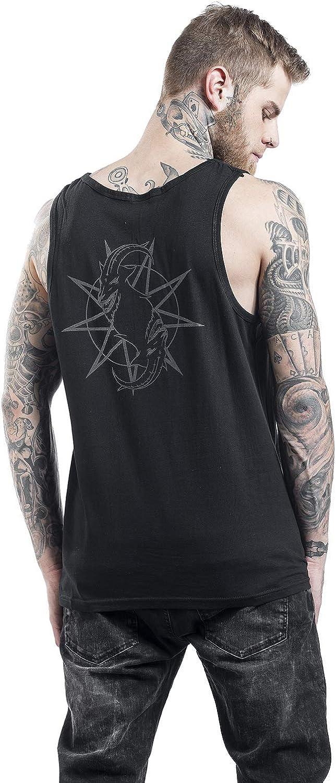 Slipknot Goat Star Logo Top Tirante Ancho Negro