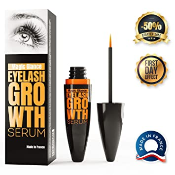 86f76075337 Magic Glance - Eyelash Growth Serum - Lash Boost Enhancer For Longer Lashes  And Eyebrows -