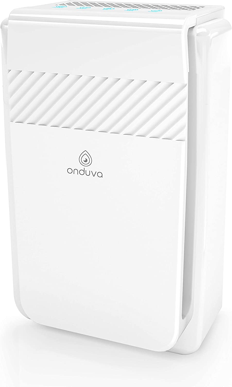 Purificador de Aire HEPA e Ionizador de Aire Onduva® (40m2 XXL) | Prefiltro | Filtro HEPA | Filtro carbon activado | Catalizador Frío
