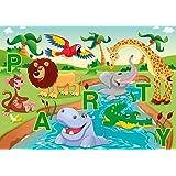 """Edition Colibri Lot de 10 cartes d'anniversaires humoristiques """"Les drôles animaux du zoo font la fête"""" Respectueuses de l'environnement, impression climatiquement neutre"""