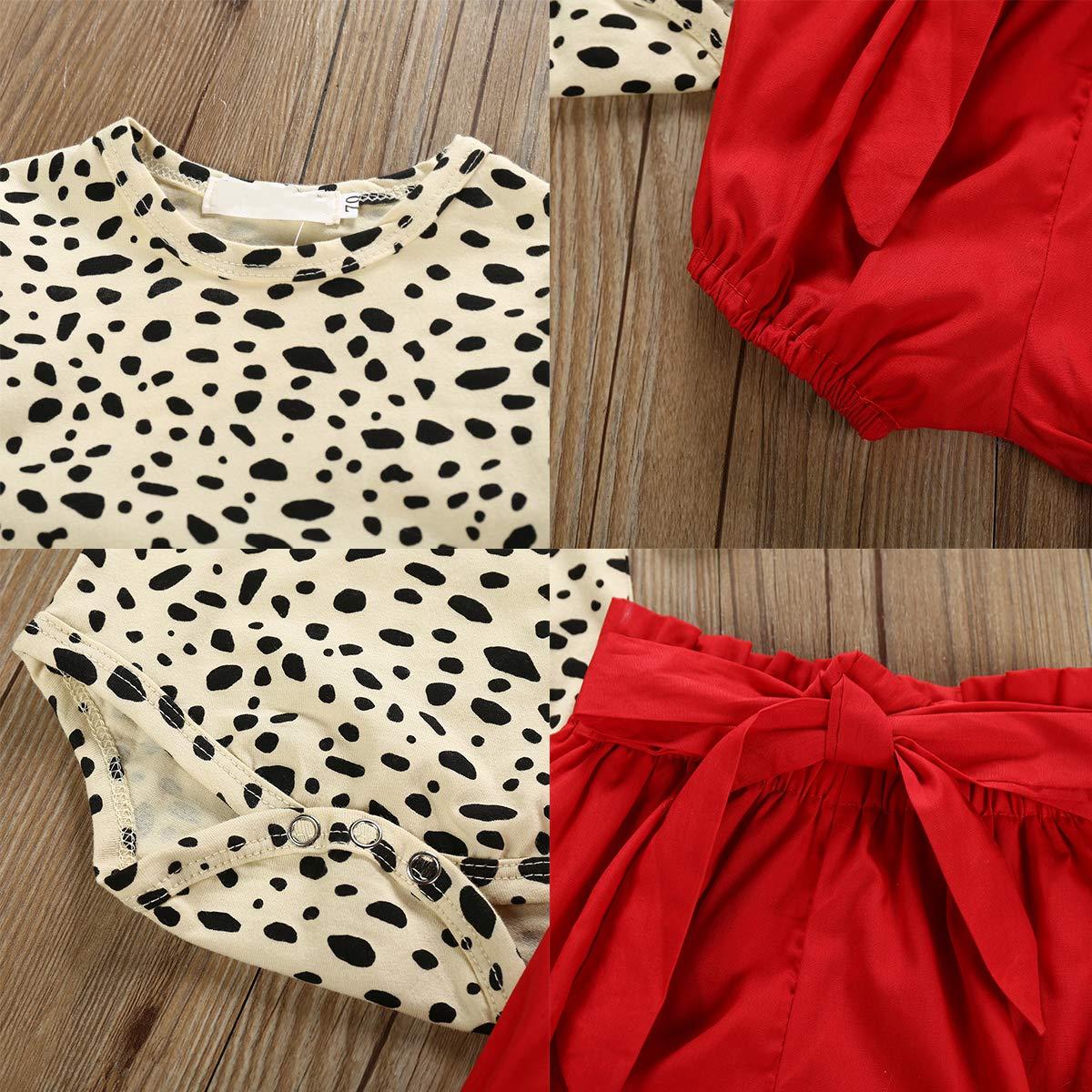 Fascia per Fascia 0-24 Mesi Borlai Neonata Ragazze Moda Vestiti Estivi Vestiti Set Pagliaccetto Stampa Leopardo Pantaloncini