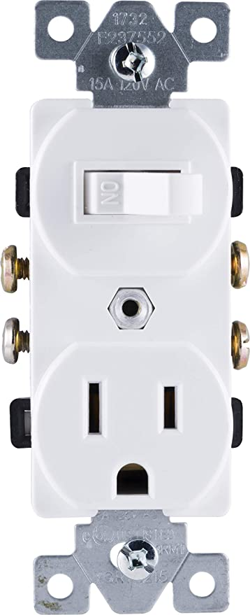 Miraculous Ge Wall Switch Outlet Combo Two In One Receptacle 1 On Off Wiring 101 Eattedownsetwise Assnl