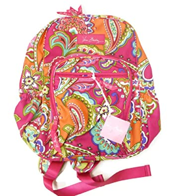 a76dbb97aeee Amazon.com  Vera Bradley Lighten Up Mini Campus Backpack in Pink Swirls   Shoes