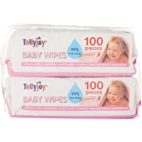Tollyjoy Baby Wipes, Unscented, 100 Count (Pack of 2)