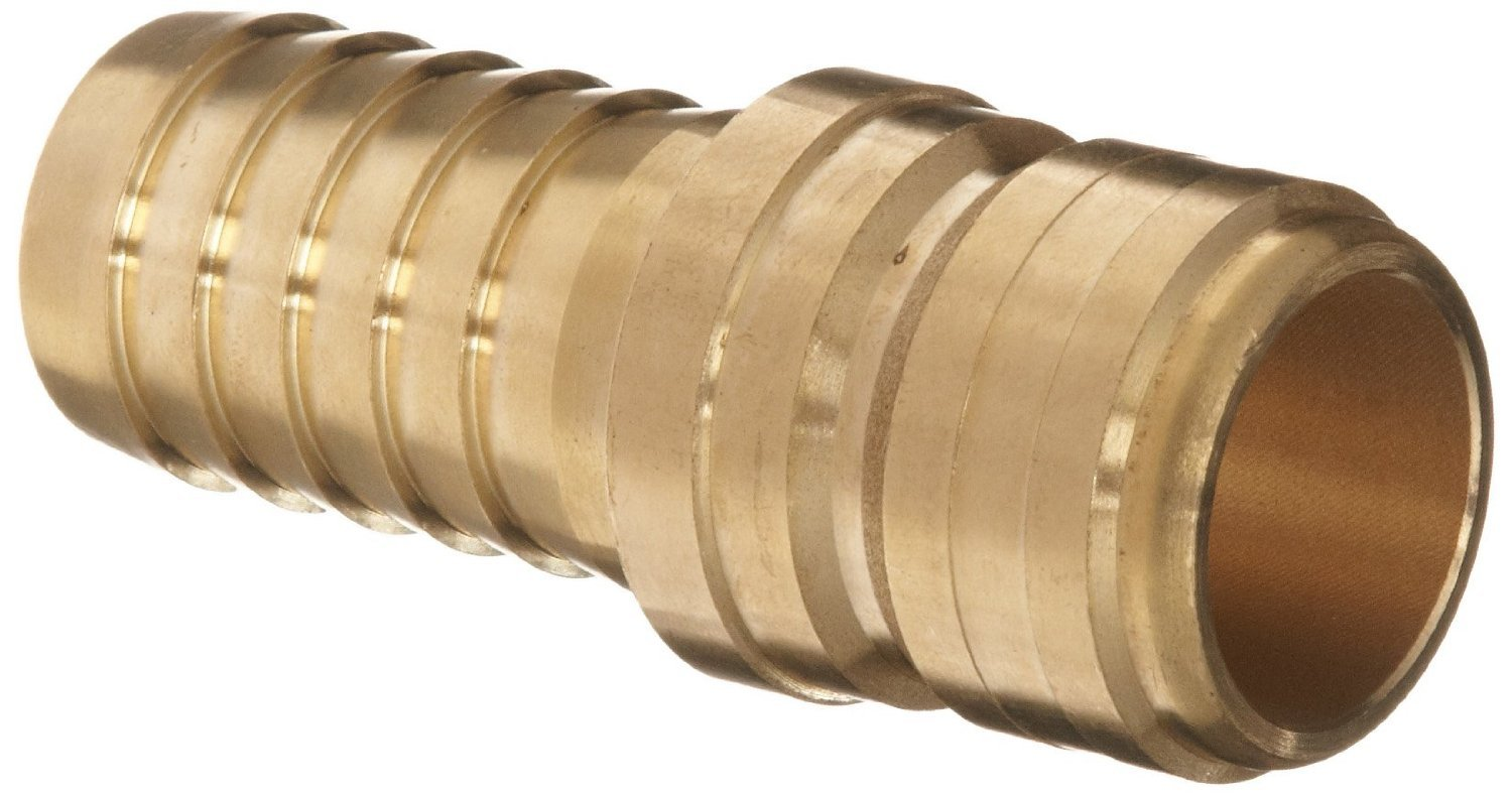 Dixon E8S8-B Brass Hydraulic Quick-Connect Fitting, Standard Plug, 1'' Straight Coupling x 1'' Hose ID Barbed