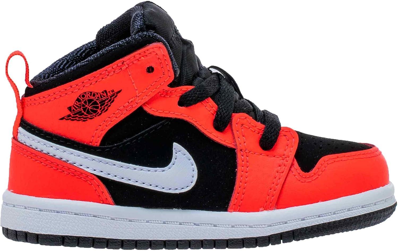 best sneakers ccbe8 87879 Nike Boy's Air Jordan Retro 1 Toddler Shoe, Black/Infrared 23/White, Size  10 M US Toddler