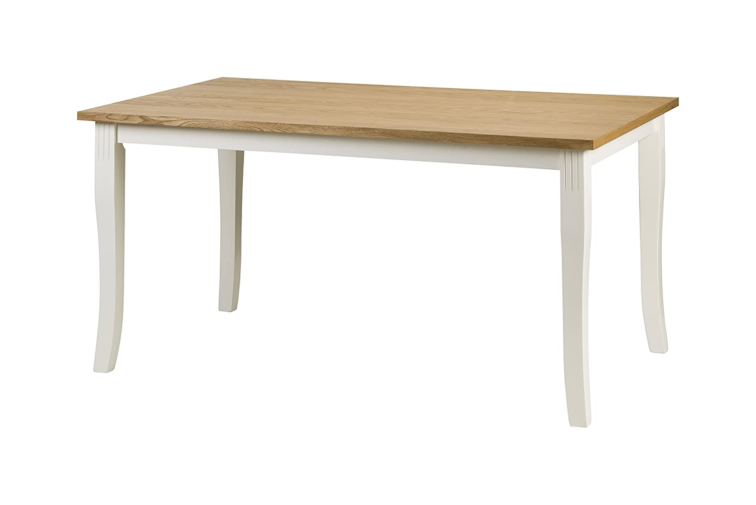 Julian Bowen Davenport Dining Table, Wood, Ivory/Light Oak DAV001