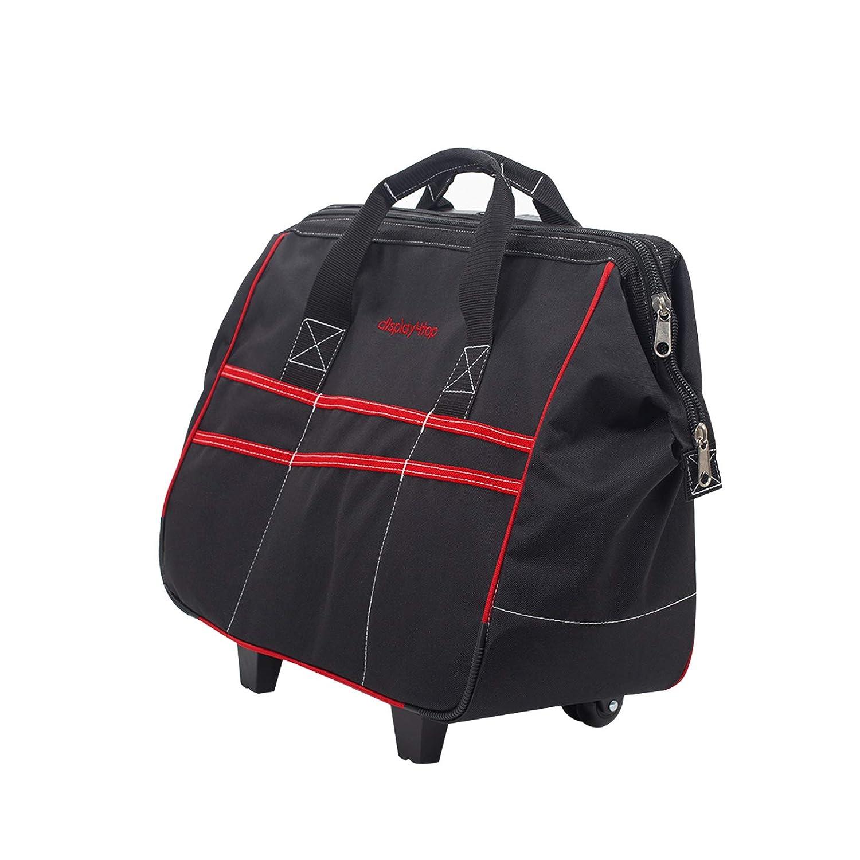 bolsa impermeable con ruedas de viaje Dawoo Mochila para herramientas con mango telesc/ópico rojo y negro bolsa con ruedas giratorias