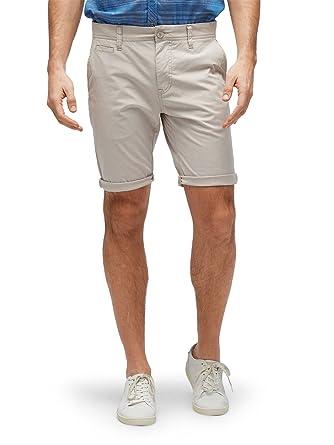 405b1fb275aa41 TOM TAILOR für Männer Hosen   Chino Jim Slim Bermuda Shorts Cement beige