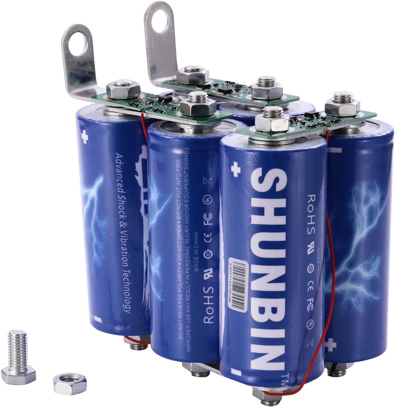 Amazon Com Super Farad Capacitor 16v 500f 6pcs Set Super Capacitance Super Capacitor 2 7v 3000f Farad Capacitor Module With Oa Screw Type Car Electronics