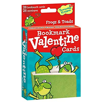 Peaceable Kingdom 28 Card Pop-Out Frog Bookmark Valentines with Envelopes: Toys & Games