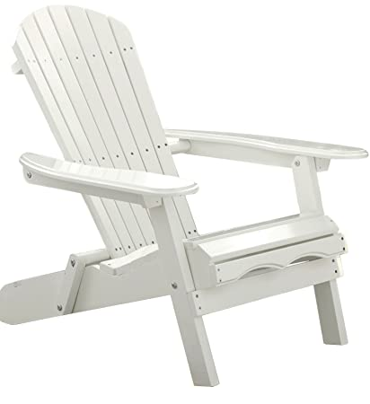 Merry Garden White Paint Simple Adirondack Chair