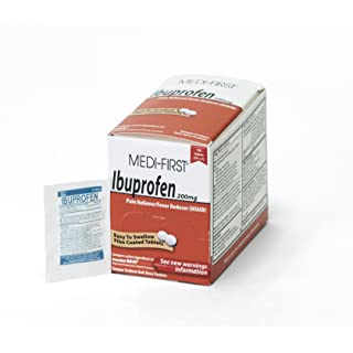 Medi-First 80833 Ibuprofen, 50 packets of 2, Pain Reliever