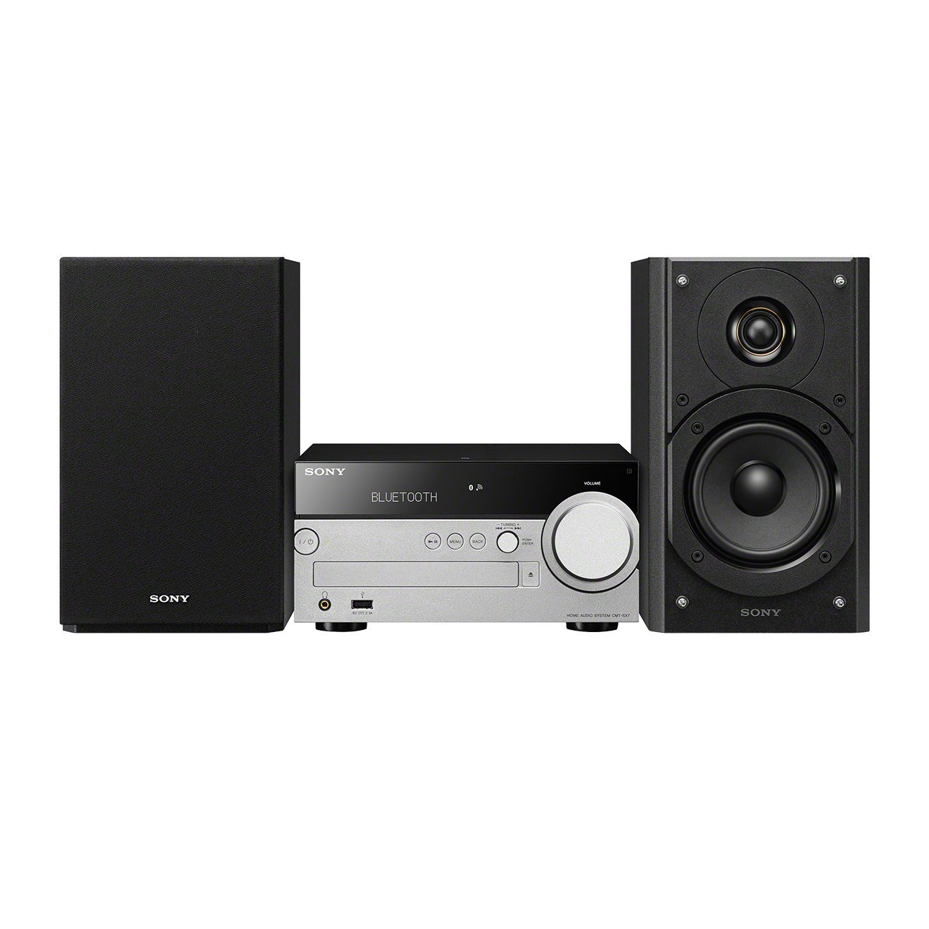 Sony CMT-SX7 - Sistema Hi-Fi Compacto (Bluetooth, NFC, Wi-Fi y Multi-Room ), Negro