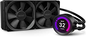 NZXT Kraken Z53 240mm - RL-KRZ53-01 - AIO RGB CPU Liquid Cooler - Customizable LCD Display - Improved Pump - Powered by CAM V4 - RGB Connector - Aer P 120mm Radiator Fans (2 Included)