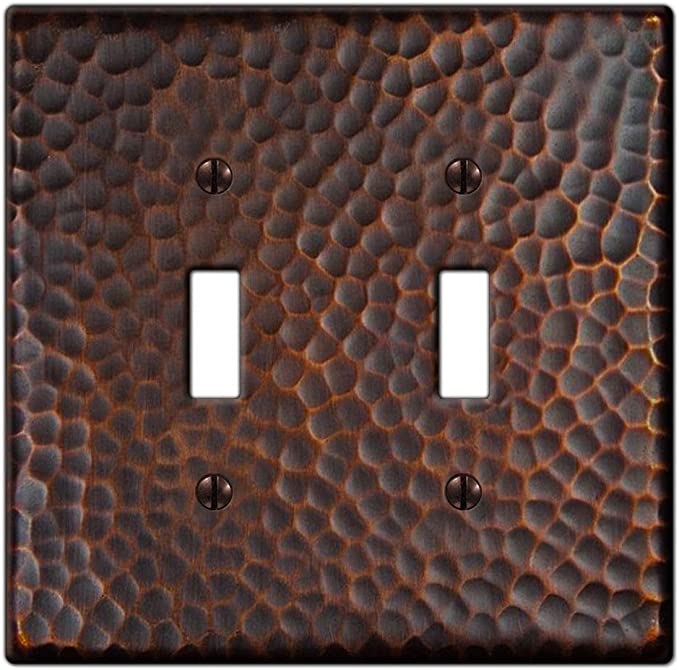 Hampton Bay Hammered 2 Toggle Wall Plate Aged Bronze Amazon Com