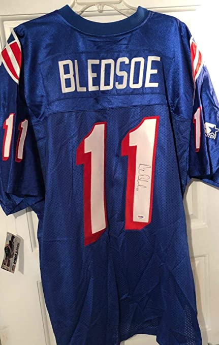 Drew Bledsoe Autographed Patriots Wilson Authentic Jersey Beckett Auth R1