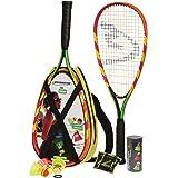 Speedminton S600 Set - Original Speed Badminton / Crossminton Starter Set including 2 rackets, 3 Speeder, Speedlights, Bag