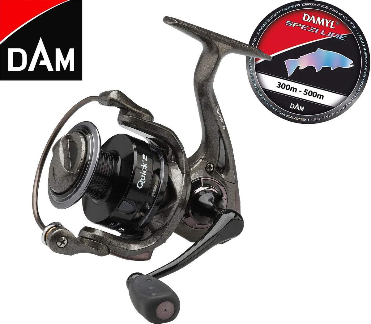 Dam Quick 2 2000 FD Spinnrolle mit Frontbremse SpeziLine Schnur