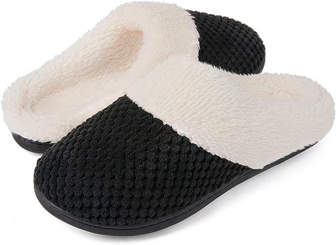 memory foam slippers mens