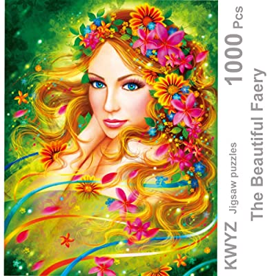 KWYZ Puzzles 1000 Pieces for Adults Kids – The Beautiful Faery Jigsaw Puzzle Toy, Artwork Art Large Size (27.56 in x 19.69 in): Toys & Games