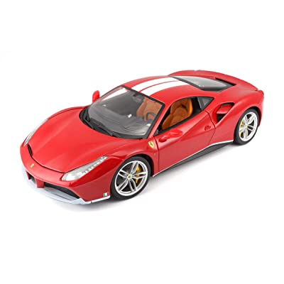 Ferrari Burago 1/18 Scale Diecast - 18-16008 488 GTB Rosso red: Toys & Games