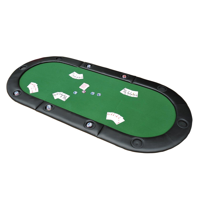 "Hom 200cmx90cm 79""x36"" Classic 3 Folding Poker Table Foldable"