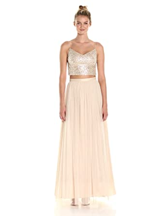 Adrianna Papell Women's 2 Pc Sequin Bridesmaid Top with