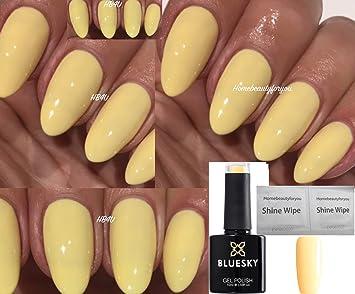 Vernis à ongles gel Bluesky , Jaune primevère pâle 80566 , Séchage sous  lampe UV /