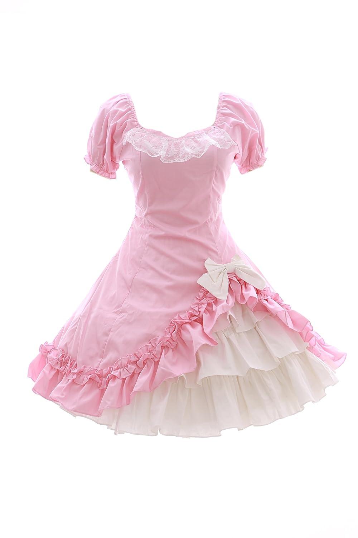 ca42130a45c Kawaii-Story JL 572 Pink White Sweet Classic Gothic Lolita Dress Skirt Dress  Cosplay Costume  Amazon.co.uk  Toys   Games