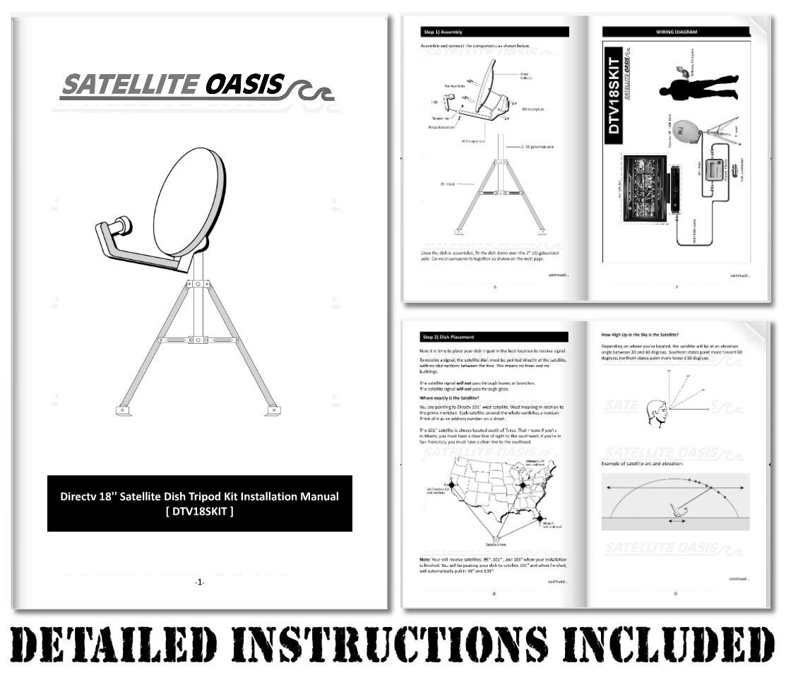 Dish Tailgater Wiring Diagram Libraries Satellite Libraryamazon Com Directv Portable Tripod Kit For Rv Tailgating