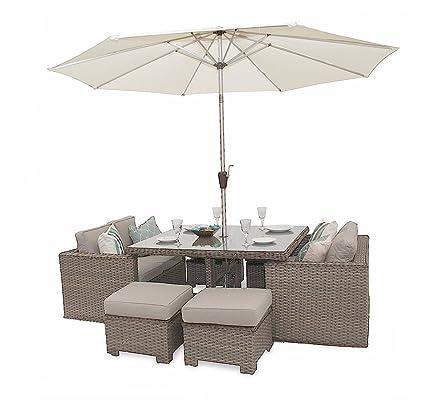 Versatilidad Deluxe cubo de ratán sofá juego de muebles de jardín ...