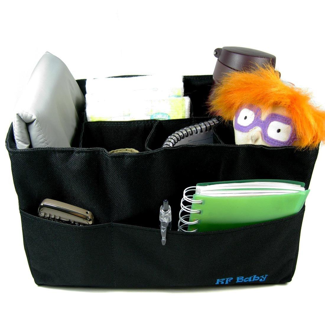 Diaper Changing Pad Value Combo KF Baby Diaper Bag Insert Organizer 12 x 6.4 x 8 inch, Black