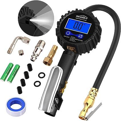 235PSI Manómetro Digital, Autmor Medidor de Presión de Neumáticos ...