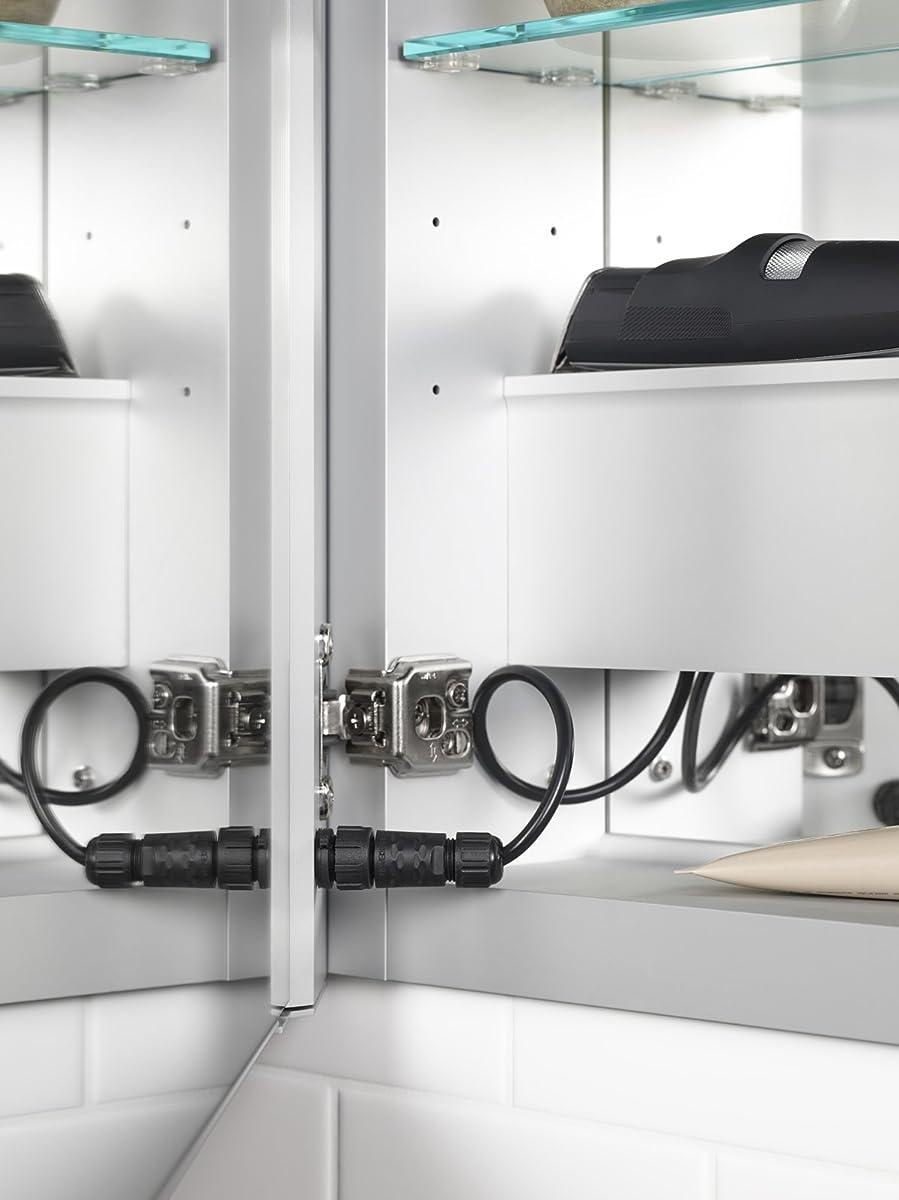 "KOHLER 99011-TL-NA Verdera Lighted Medicine Cabinet, Aluminum, 40""x30"""