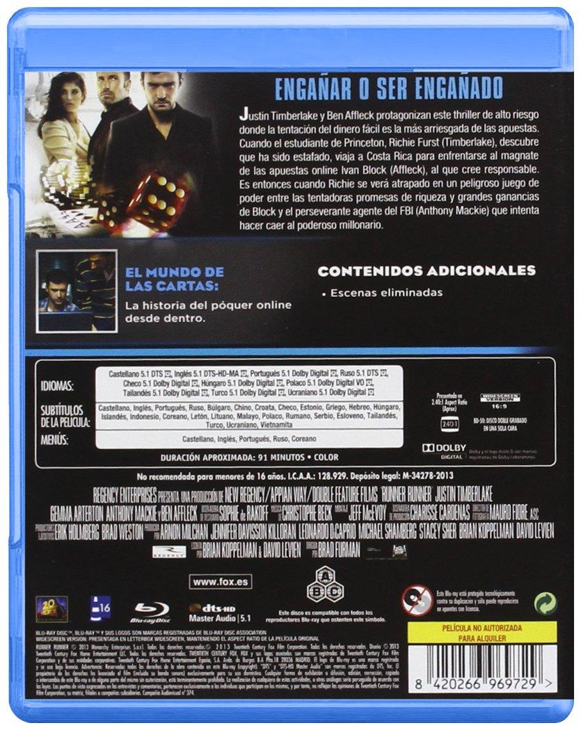 Runner Runner [Blu-ray]: Amazon.es: Ben Affleck, Justin ...