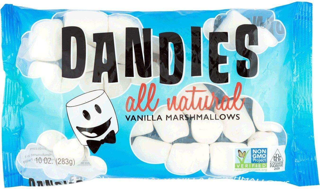Dandies - Vegan Marshmallows, Vanilla, 10 Ounce (Pack of 4) by Dandies