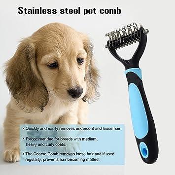 cozytek mascotas peine, cepillo, Pet Dematting peines y cepillo, 11 hojas de mascota