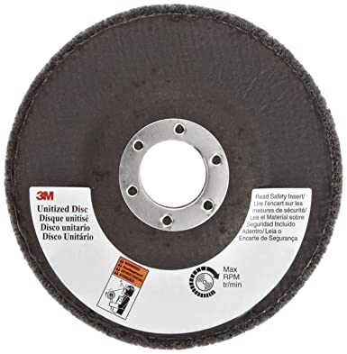 Abrasive Grit Scotch-Brite 14064 EXL Unitized Wheel 2 x 1//4 x 1//4 6A MED 16100 RPM Pack of 60 2 Diameter