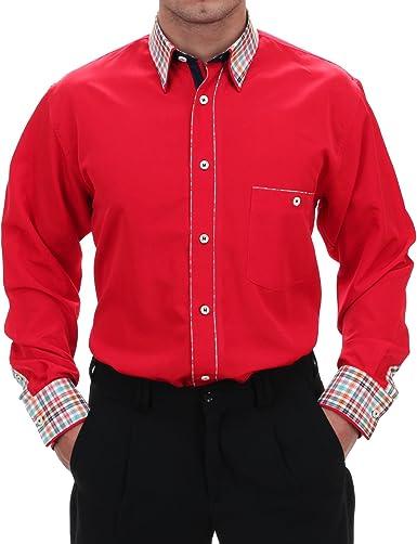 Especial Camisa En Rojo, para hombre mejor calidad, HK ...