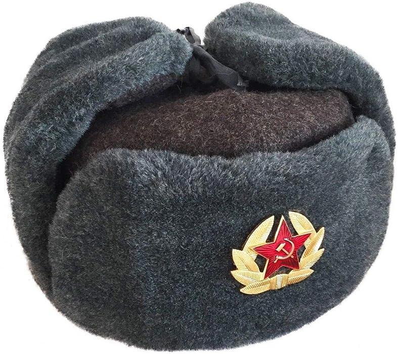19ae3fb5dfca0 Amazon.com  Authentic Russian Army Ushanka Winter Hat