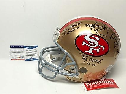 583179cb304 Joe Montana   Dwight Clark Autographed Signed San Francisco 49ers Full Size  Proline Helmet Bas