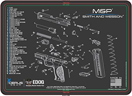 Amazon.com : EDOG Smith & Wesso S&W M&P Cerus Gear Schematic (Exploded  View) Heavy Duty Pistol Cleaning 12x17 Padded Gun-Work Surface Protector  Mat Solvent & Oil Resistant : Sports & OutdoorsAmazon.com