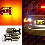 MCK Auto 2700010041 Ambre Py21 W 44Smd Ampoules Led Canbus Indicateur Signal Arrière Avant Orange